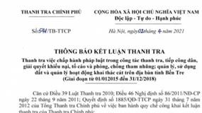 Chủ tịch UBND tỉnh Bến Tre bị đề nghị kiểm điểm vì giao đất công cho Thành Thành Công