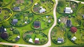 Khu nhà vườn hình bầu dục độc đáo ở Đan Mạch