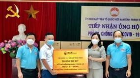 T&T Group tặng 50.000 bộ Kit xét nghiệm nhanh COVID-19 cho Thanh Hóa và Kiên Giang