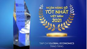 Tạp chí Global Economics vinh danh PVcomBank là ngân hàng số tốt nhất Việt Nam 2021