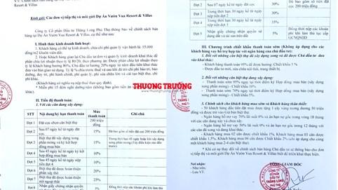 Khách hàng cần xem xét và cân nhắc kỹ Chính sách bán hàng của dự án Vườn Vua – Phú Thọ