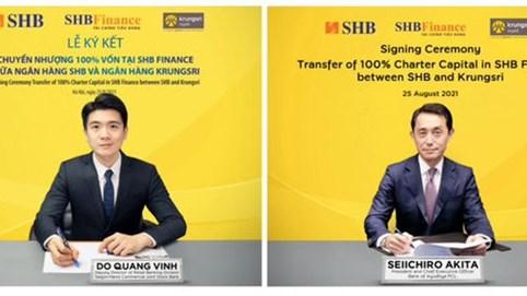 SHB sẽ chuyển nhượng 100% vốn tại SHB Finance cho Krungsri – thành viên chiến lược thuộc Tập đoàn MUFG – Nhật Bản