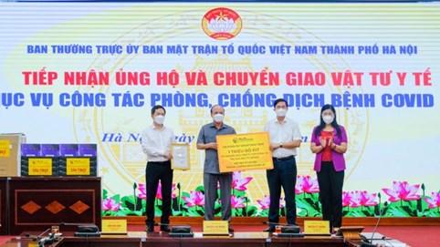 T&T Group trao tặng 1 triệu bộ kit xét nghiệm PCR Covid-19 cho Hà Nội chống dịch