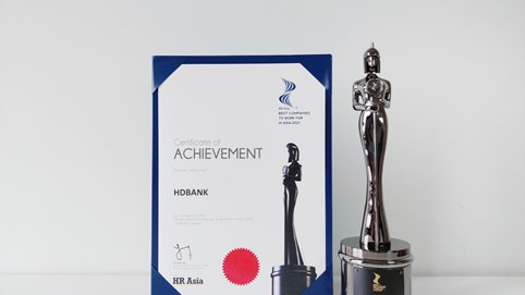 """HDBank - ngân hàng Việt Nam duy nhất 4 năm liền được vinh danh """"Nơi làm việc tốt nhất châu Á"""""""