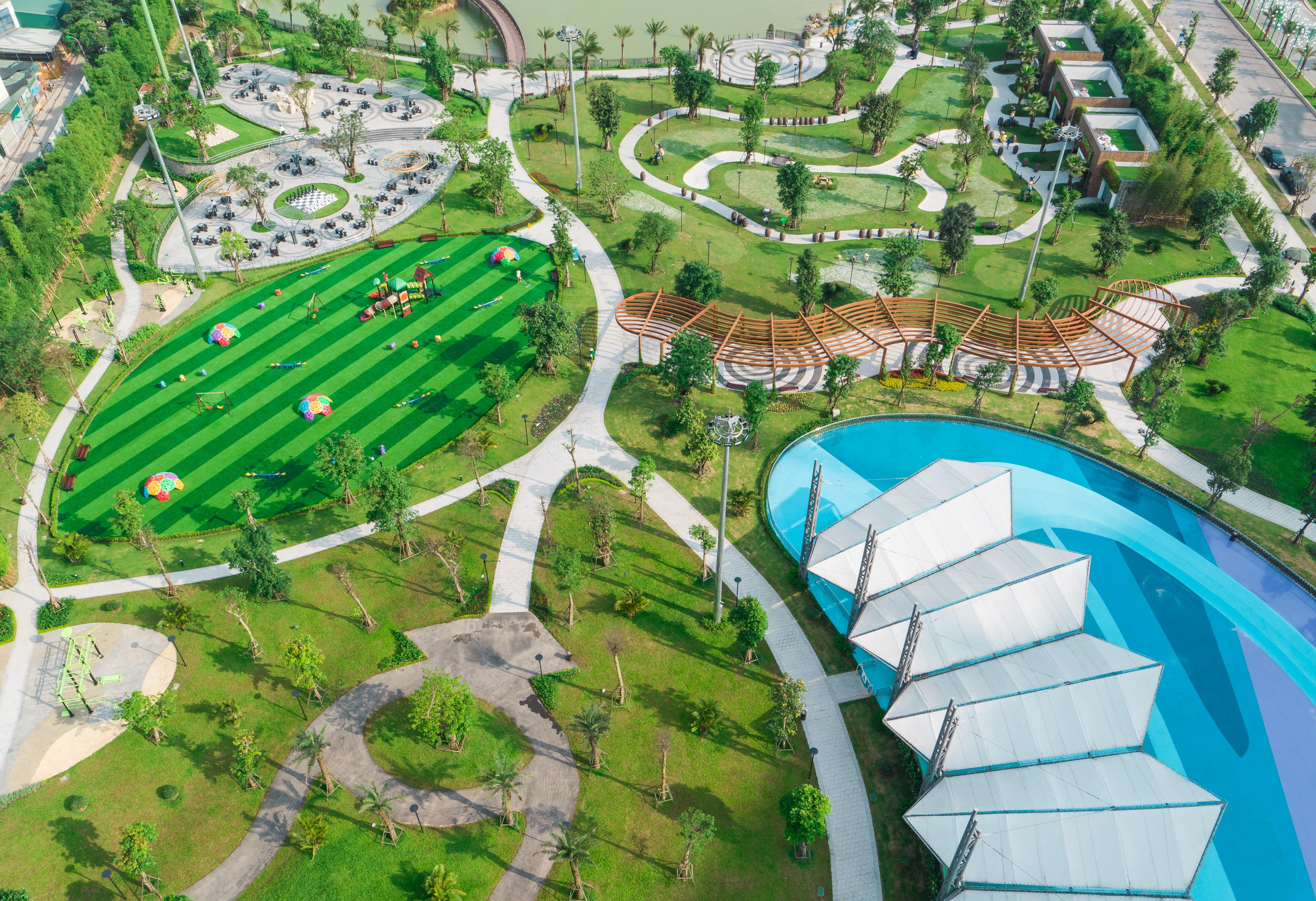 Công viên thể thao 15 chủ đề với hơn 1000 máy tập trong khu đô thị