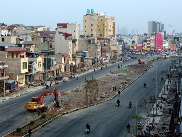 Hà Nội sẽ triển khai để đầu tư khép kín các đường vành đai Thủ đô trong thời gian tới để hoàn thiện hạ tầng giao thông. (Ảnh: Huy Hùng/TTXVN)