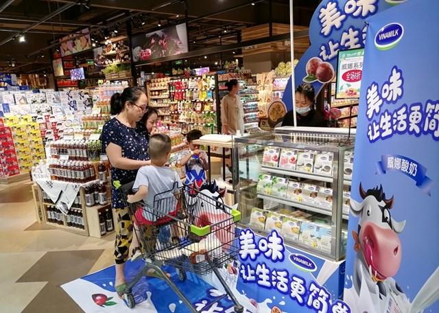 Nhiều hoạt động tiếp thị, giới thiệu sản phẩm được tổ chức tại Trung Quốc giúp người tiêu dùng làm quen với các sản phẩm Vinamilk.