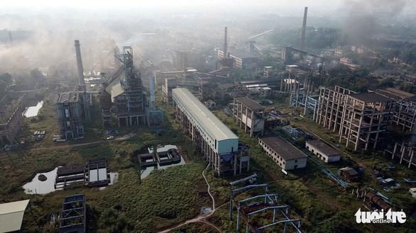Toàn cảnh dự án mở rộng sản xuất giai đoạn 2 Công ty Gang thép Thái Nguyên. (Ảnh: Nam Trần)