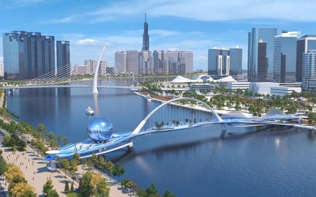 4 cây cầu kết nối Thủ Thiêm được đầu tư những năm tới - Ảnh 1