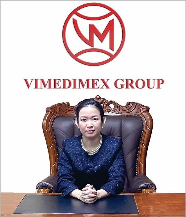 Thạc sĩ, bác sĩ Trần Mỹ Linh - Tổng giám đốc Công ty cổ phần y dược phẩm Vimedimex, kiêm chủ tịch HĐQT công ty TNHH MTV Vimedimex Bình Dương