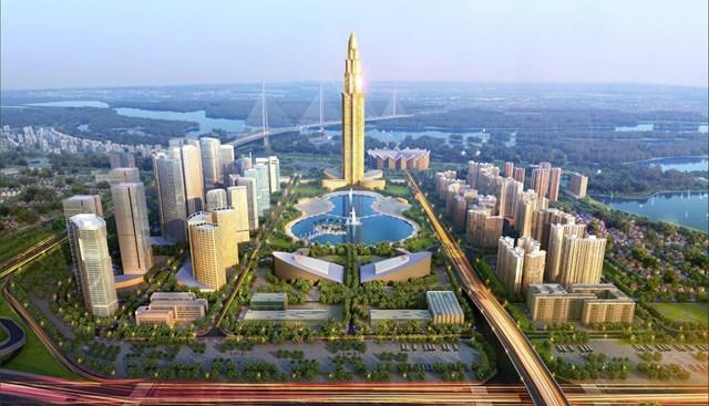 Phối cảnh thành phố thông minh Bắc Hà Nội