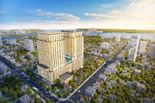 BRG Legend là tòa tháp căn hộ hạng sang hàng đầu sánh đôi cùng khách sạn Hilton danh tiếng