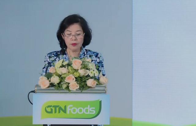 Bà Mai Kiều Liên phát biểu tại đại hội. Nguồn: Ảnh chụp màn hình