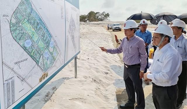 Lãnh đạo tỉnh Thừa Thiên - Huế kiểm tra tiến độ dự án của Tập đoàn BRG. (Ảnh: UBND tỉnh Thừa Thiên - Huế).