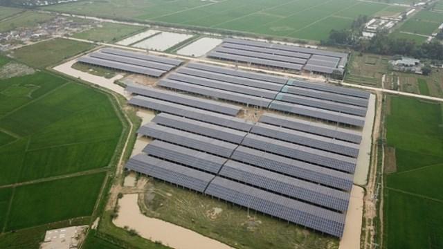 Dự án trang trại tổng hợp ở xã Trung Lễ bỗng thành hệ thống điện mặt trời