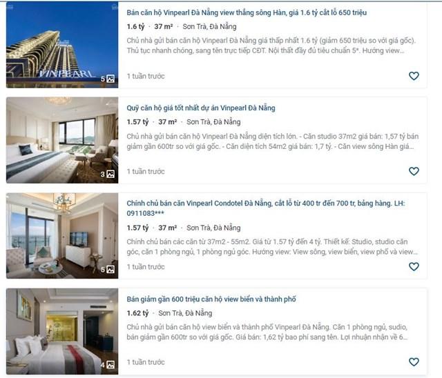 """Tình trạng bán cắt lỗ căn hộ condotel đang """"nở rộ"""" trên thị trường bất động sản."""
