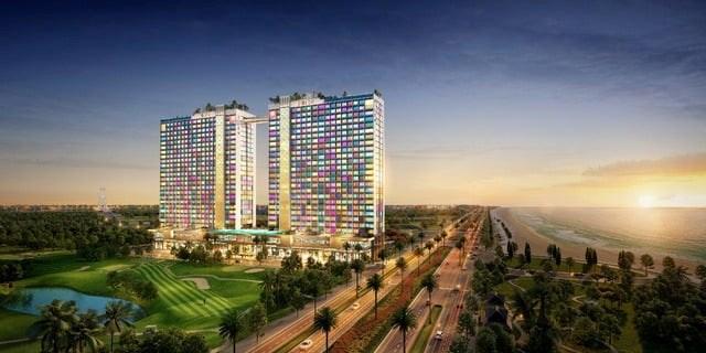 Mô hình Dự án Tổ hợp căn hộ Du lịch nghỉ dưỡng Dolce Penisola Quảng Bình.