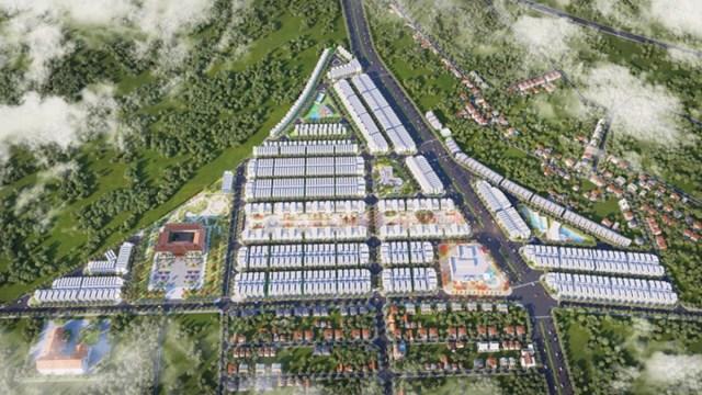 Phối cảnh dự án Diamond City Lộc Ninh đang được rao bán rầm rộ mặc dù chưa hoàn thiện cơ sở hạ tầng