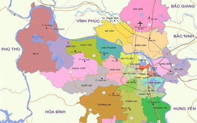 3 huyện Thanh Oai, Thường Tín, Mê Linh dự kiến lên quận vào 2026-2030 - Ảnh 1
