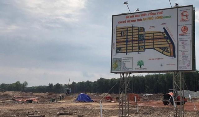 Chủ đầu tư dự án An Phú Long Garden bị xử phạt vì xây dựng không phép