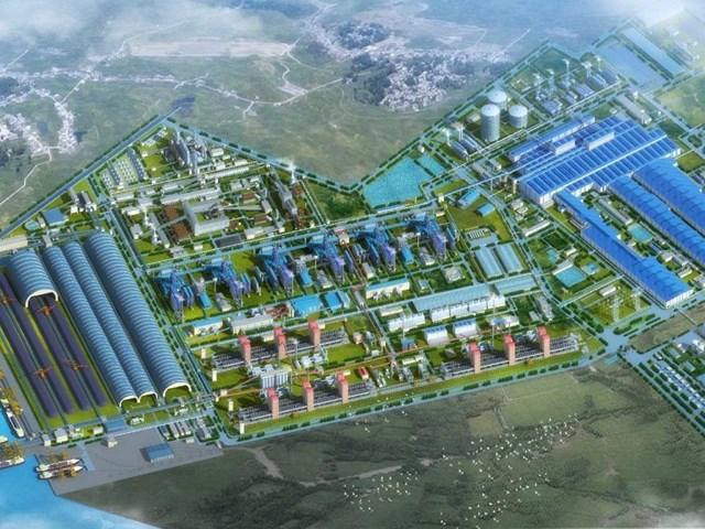Hình ảnh tổng quan về dự án khu tổ hợp Gang Thép Hòa Phát Dung Quất Quảng Ngãi