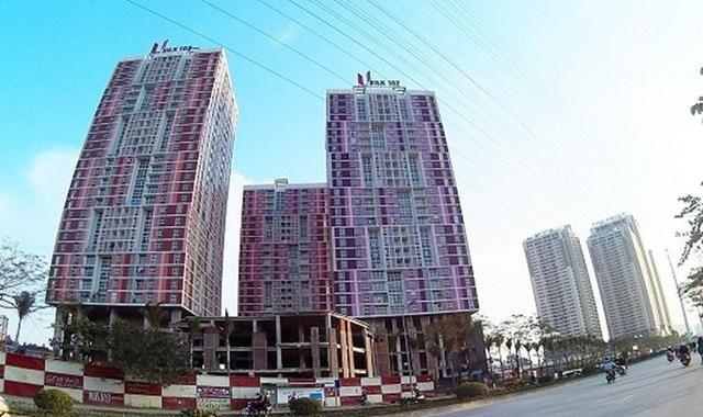 UBND TP Hà Nội sẽ ngừng cấp điện, cấp nước đối với các công trinh vi phạm quy định về PCCC. Trong ảnh: Chung cư CT1 Usilk City tại La Khê, Hà Đông do Công ty CP Sông Đà Thăng Long làm chủ đầu tư vi phạm PCCC.