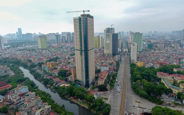 Tòa nhà hỗn hợp Tháp Doanh Nhân tại Phường Mộ Lao (Hà Đông, Hà Nội) do Công ty CP xuất nhập khẩu Tây Đô làm chủ đầu tư đưa nhà, công trình vào hoạt động khi chưa được nghiệm thu về PCCC.