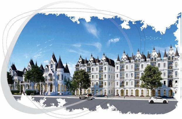 Hai mẫu biệt thự lâu đài và biệt thự nhà phố dự án Helianthus Center Red River