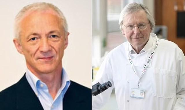 Nhà khoa học Na Uy, tiến sĩ Birger Sørensen (trái), và giáo sư người Anh Angus Dalgleish. Ảnh: Minervanett/Metro.