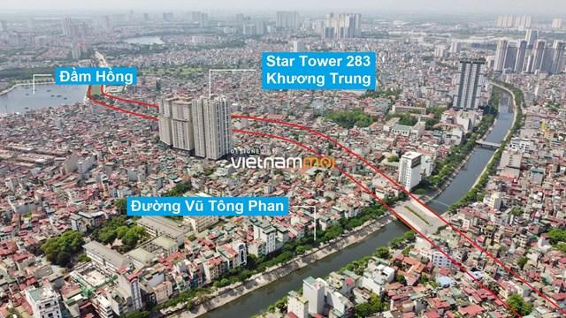 Vành đai 2,5 sẽ mở theo quy hoạch qua quận Thanh Xuân. (Ảnh: Hạ Vũ).