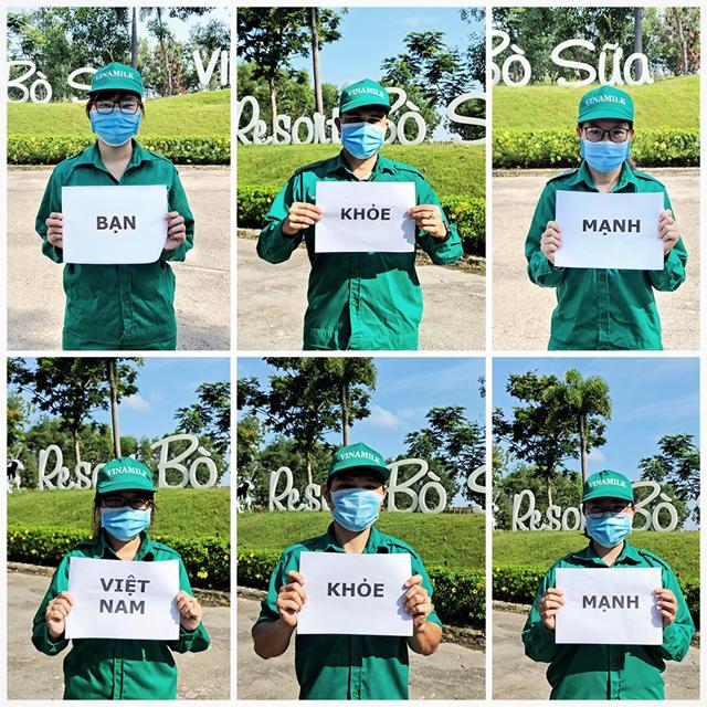 """Thông điệp """"Bạn khỏe mạnh, Việt Nam khỏe mạnh"""" được hưởng ứng bởi các nhân viên Vinamilk trên cả nước trong ngày khởi động chiến dịch"""