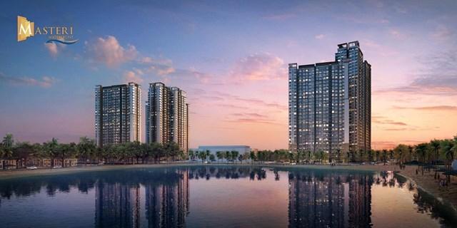 Nguồn cung căn hộ cao cấp áp đảo trên thị trường bất động sản. Ảnh: Phối cảnh dự ánMasteri Waterfront Gia Lâm, Hà Nội.