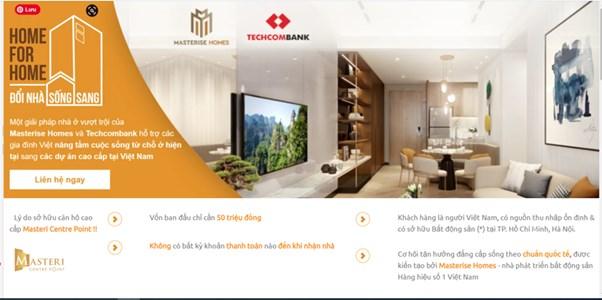 """Các thông tin quảng cáo về chương trình """"Đổi nhà 0 đồng"""" của Masterise Homes"""