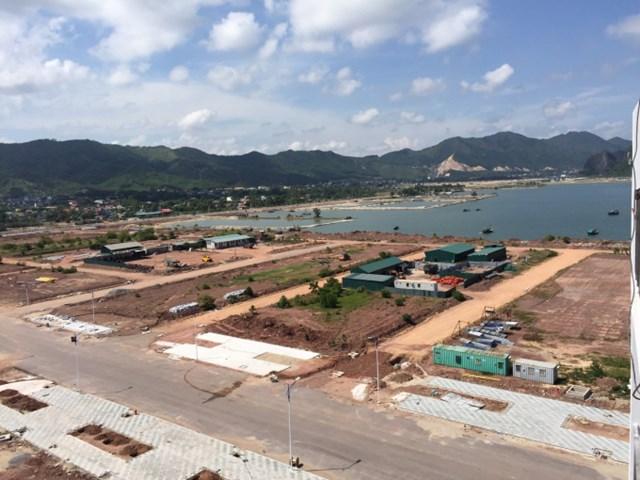 Một góc dự án Khu đô thị Ocean Park Vân Đồn tại Hòn Cặp Xe, xã Hạ Long, huyện Vân Đồn, Quảng Ninh. Ảnh: MP.