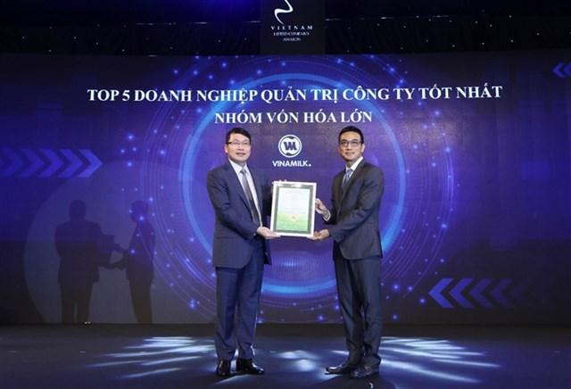 Vinamilk nằm trong top 5 doanh nghiệp quản trị công ty tốt nhất nhóm vốn hóa lớn.