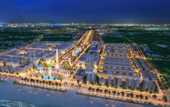 Phối cảnh tổng thể của dự án khu đô thị Quảng trường biển thành phố Sầm Sơn