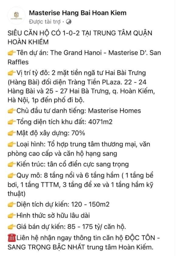 Thực hư Hà Nội xuất hiện căn hộ giá 'sốc' 175 tỷ đồng: Bán cho ai? - Ảnh 1