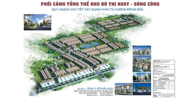 Phối cảnh Khu đô thị Kosy Sông Công của Taaoj đoàn Kosy.
