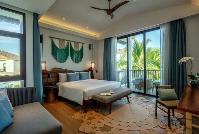 Bên trong villa New World Phu Quoc Resort được bài trí thanh nhã.