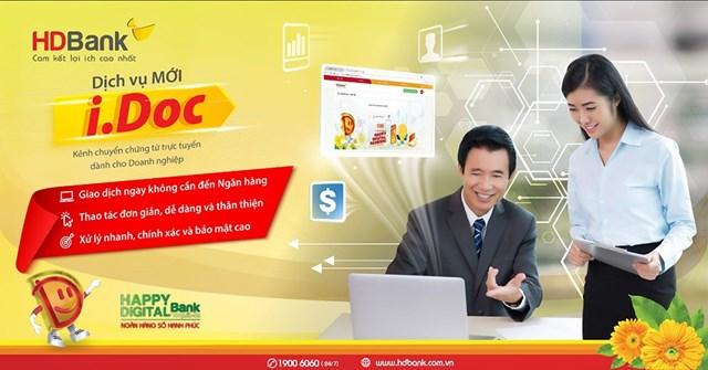 HDBank tiên phong triển khai dịch vụ chuyển chứng từ trực tuyến I.Doc - Ảnh 1