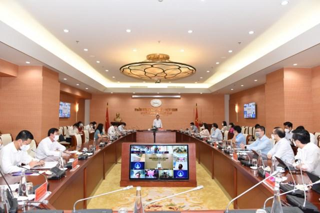 Ngân hàng Nhà nước Việt Nam tổ chức Hội nghị trực tuyến Giải pháp của ngành Ngân hàng góp phần tháo gỡ khó khăn cho ngành lúa gạo khu vực Đồng bằng sông Cửu Long.