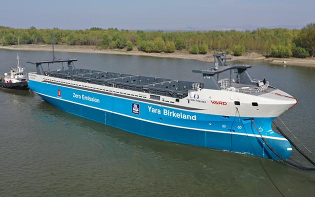 Lịch sử ngành vận tải biển sắp bước sang trang mới: Tàu vận tải chạy điện, không thuỷ thủ đoàn sắp khởi hành chuyến đầu tiên - Ảnh 1