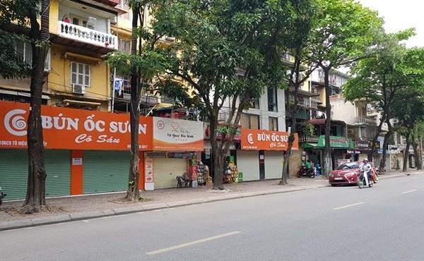 Dịch bệnh khiến hàng loạt các cửa hàng kinh doanh bị đóng cửa