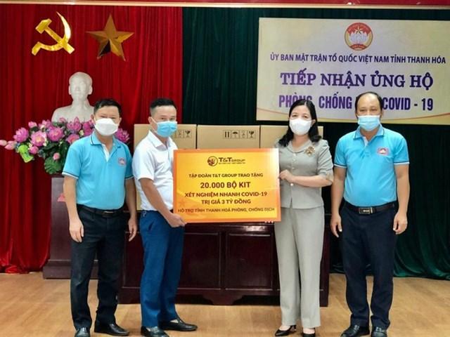 T&T Group tặng 50.000 bộ Kit xét nghiệm nhanh COVID-19 cho Thanh Hóa và Kiên Giang - Ảnh 1