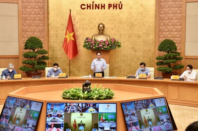 Thủ tướng Chính phủ Phạm Minh Chính chủ trì cuộc họp trực tuyến của Ban chỉ đạo với 1060 xã, phường, thị trấn tại 20 tỉnh, thành phố.