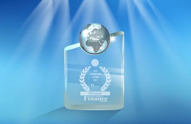 Một trong những giải thưởng danh giá của PVcomBank trong năm 2021