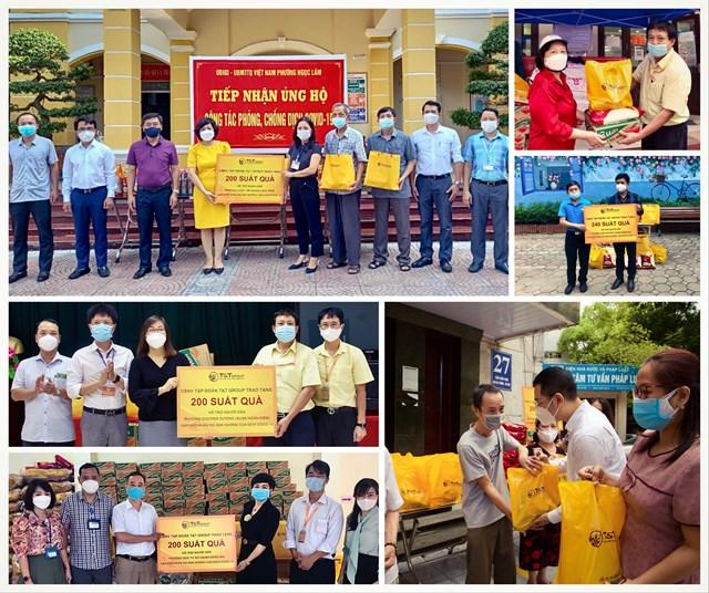 """Chương trình """"Lan tỏa yêu thương, Chung tay chống dịch"""" do CBNV T&T Group tổ chức đã trao tặng 3.000 suất quà cho người dân TP Hà Nội gặp khó khăn do COVID-19"""
