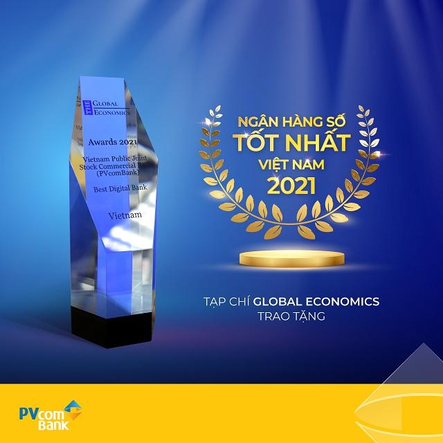 Tạp chí Global Economics vinh danh PVcomBank là ngân hàng số tốt nhất Việt Nam 2021  - Ảnh 1
