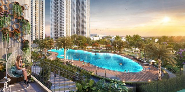 Căn hộ Imperia Smart City view bể bơi