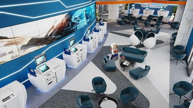 Không gian sang trọng với những thiết bị công nghệ hiện đại bên trong văn phòng của KSF Group
